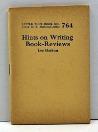 Hints on Writing Book-Reviews (Little Blue Book Number 764)