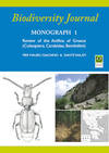 Review of the Anillina of Greece (Coleoptera, Carabidae, Bembidiini). In 4to, pictorial wrappers, pp. 112 with 248 figs. Monograph n. 1 of Biodiverrsity Journal
