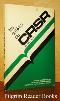 image of Les cahiers du CRSR. Volume 1, 1977.