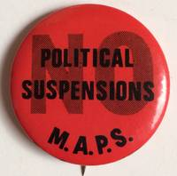 image of No political suspensions [pinback button]