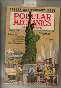 POPULAR MECHANICS MAGAZINE JANUARY 1952 GOLDEN ANNIVERSARY ISSUE WITH  STATUE OF LIBERTY AND OTHER HISTORICAL EVENTS ON FRONT COVER