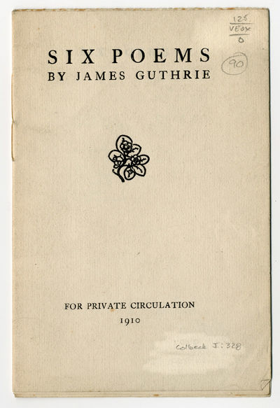 : For Private Circulation, 1910. Printed wrappers. First edition of this uncommon production by the ...