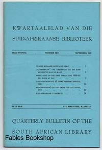 QUARTERLY BULLETIN OF THE SOUTH AFRICAN LIBRARY.