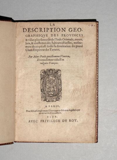 Paris: Jehan Longis, 1556. Hardcover. Near Fine. 4to. . (10) ff., 123 ff, (1) ff. (printer's device ...
