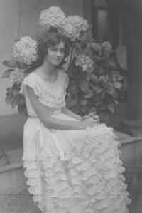 Portrait of unidentified young woman with hydrangeas. by [Unknown] - from Alan Wofsy Fine Arts (SKU: 19-7956)