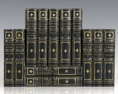 Boston: Dana Estes, 1892. The Illustrated Cabinet edition of the novels of Victor Hugo. Octavo, 12 v...