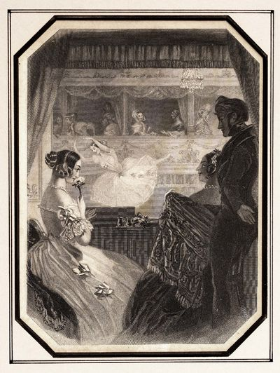 Published in Graham's Magazine, December 1849, Volume XXXV, issue #6. The scene pictures an opera ho...