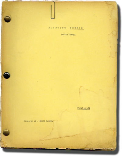 N.p.: N.p.. Typed script for an unproduced film with holograph annotations and type corrections thro...