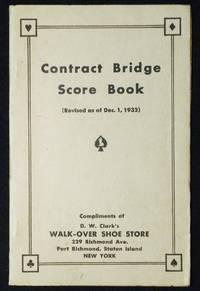 image of Contract Bridge Score Book Compliments of D. W. Clark's Walk-Over Shoe Store, Staten Island