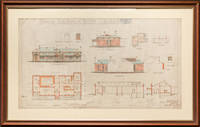 image of 'Proposed Club House at Tanunda - for the Club Committee' [an original large hand-coloured architectural drawing]