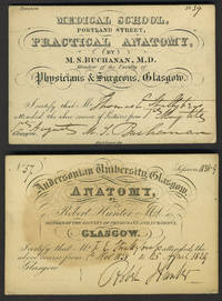 Anatomy Class tickets, University of Glasgow