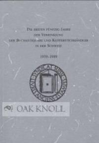 N.P.: Vereinigung der Buchantiquare und Kupferstichhändler in der Schweiz, 1989. paper wrappers. Bo...
