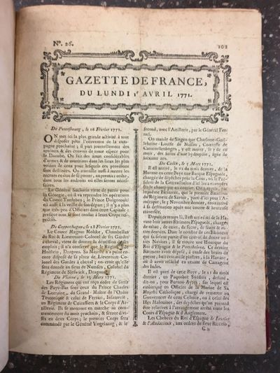 , 1771. Hardcover. Octavo; VG; bound in period 3/4 morocco, marbled boards, gilt titling to spine, b...