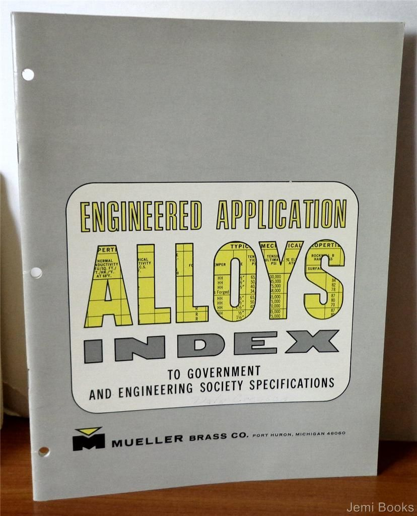 Engineered application alloys index to government and