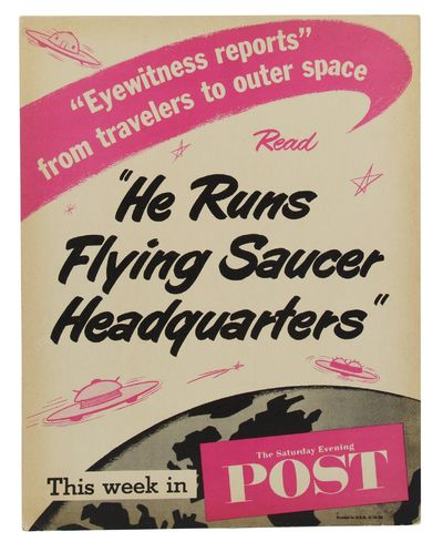 : The Saturday Evening Post, 1956. Near Fine. Single sheet, 10.5