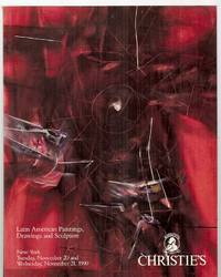 image of Christie's Latin American Paintings, Drawings, and Sculpture: New York  Tuesday, November 20 and Wednesday, November 21, 1990