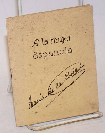 Valencia: Asociacion de S. Francisco Javier, 1924. Pamphlet. 8p., small booklet, softbound, stapled ...