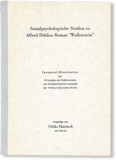 Berlin, . First Edition. Paperback. Octavo; publisher's cloth tape-backed printed card wrappers; ,19...
