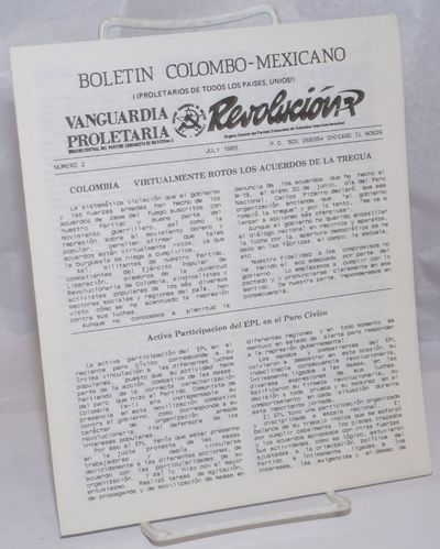Chicago: the Bulletin, 1985. 8 page newsletter, very good, text mostly in Spanish with four short En...