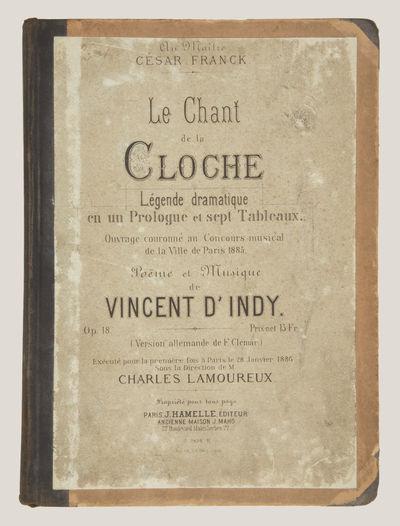 Paris: J. Hamelle , 1902. Large octavo. Half dark green cloth with brown paper boards, original publ...