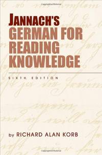 Jannach's German for Reading Knowledge by  Richard Alan Korb - Paperback - 6th - 2009 - from froelibooks (SKU: FB-101-Ger-Jan)