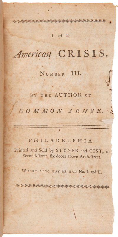 Philadelphia: Printed and Sold by Styner and Cist, 1777. pp.,27-56. Modern three-quarter morocco and...