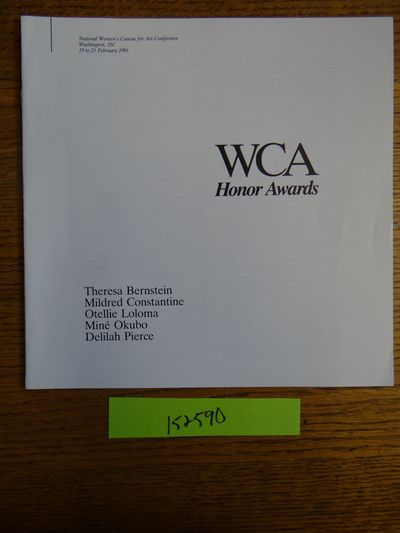 Philadelphia, PA: Women's Caucus for Art, 1991. Softcover. VG. White stapled wraps, 18 pp., BW illus...