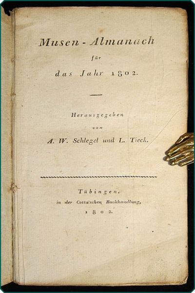 Tübingen: in der Cotta'schen Buchhandlung, 1802. 12mo (16cm; 6.25