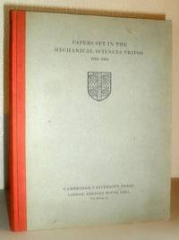 Papers Set in the Mechanical Sciences Tripos 1942-1944