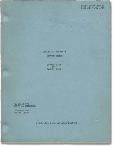 Beverly Hills, CA: Metro-Goldwyn-Mayer , 1946. Third Draft script for the 1949 film. Based on the 19...