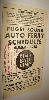 Puget Sound Auto Ferry Schedules - Summer 1938 (#105)