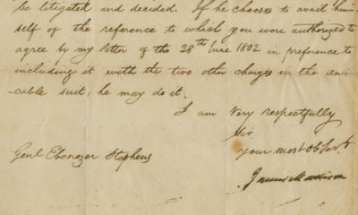 01/08/1803. James Madison To determine the loss incurred by the Americans, Madison asks: