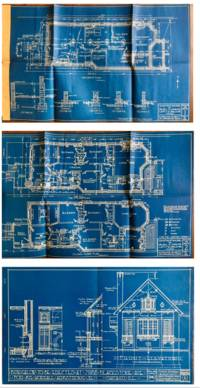 Two Sets of Blue Prints created used as Samples by the Chicago Technic