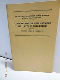 Food Habits of the American Coot with Notes on Distribution