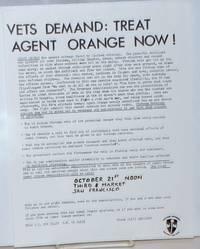 image of Vets demand: treat Agent Orange now! [handbill]