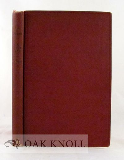 Philadelphia: University of Pennsylvania, 1917. cloth. 8vo. cloth. 206 pages. Edited from the Manusc...