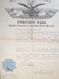 [Decree of Patent] Patent granted by the President of Mexico, Porfirio Diaz, to Alfred Ropp of San Francisco, for a process of refining metals