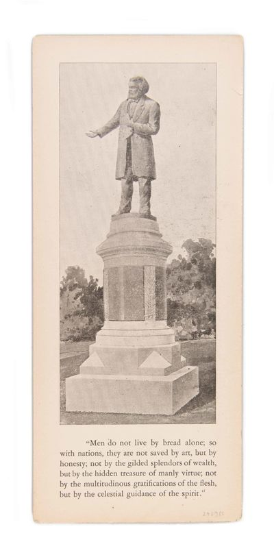 THE FIRST PUBLIC MONUMENT TO AN...