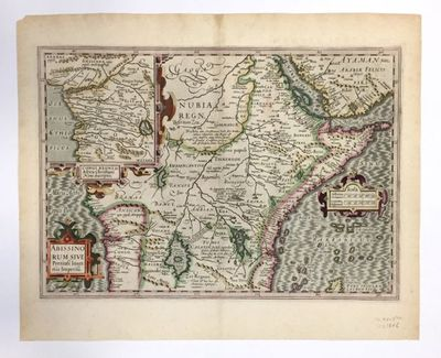 Map. Engraving with hand coloring. Image measures 13.75 x 19.25