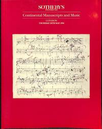 Sale 26 May 1994: Continental Manuscripts and Music.