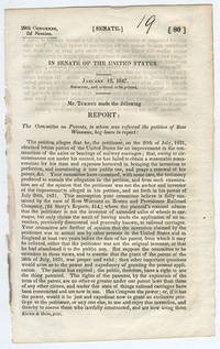 [drop-title] In Senate of the United States. January 19, 1847. Submitted, and ordered to be printed. Mr. Turney made the following report: The Committee on Patents, to whom was referred the petition of Ross Winnans, beg leave to report: ...