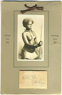 "image of 1943 Calendar with real photo of Fijian woman ""Loloma mai Viti - Greetings from Fiji"""