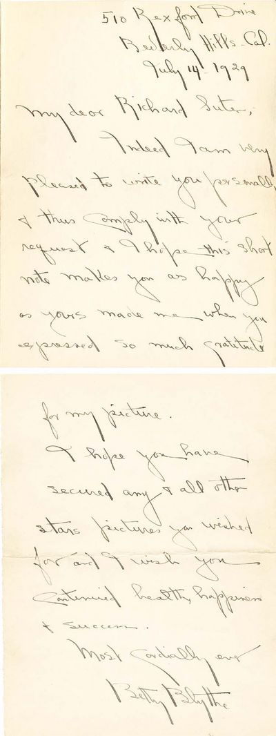 An autograph letter signed