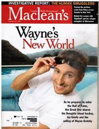 image of Maclean's Magazine: WAYNE GRETZKY