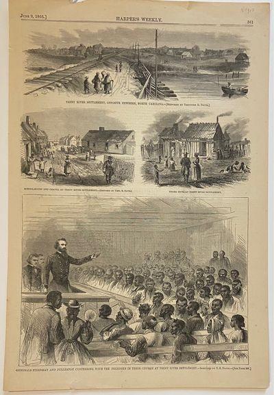 New York: Harper's Weekly, 1866. unbound. Theodore R. Davis. Woodcut engraving. Sheet measures 15.75...