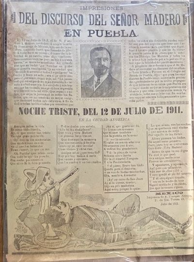 1911 LARGE PRO-REVOLUTIONARY BROADSIDE