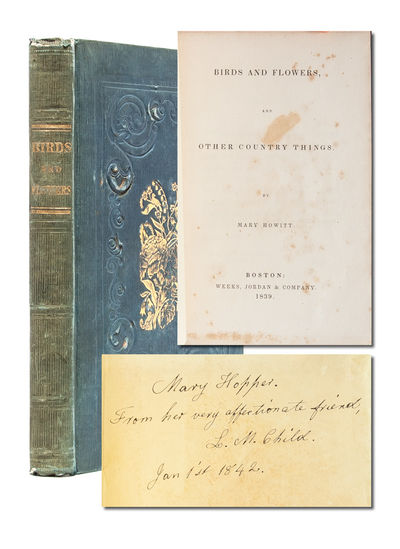 Boston: Weeks, Jordan & Co, 1839. First American edition. Original publisher's cloth binding embosse...