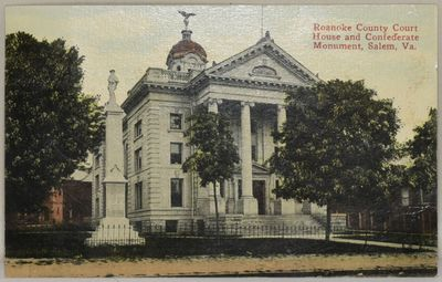 1910. Very Good binding. Image on the front of the Roanoke County Court House and Confederate Monume...
