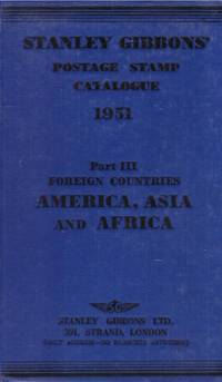 image of STANLEY GIBBONS Postage STAMP CATALOGUE. 1951, PART III : America, Asia, and Africa.