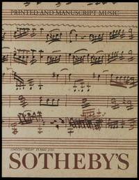 Sotheby's Sale Lot L01315, Printed and Manuscript Music